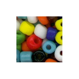 COLOURFUL GLASS BEADS - 5MM