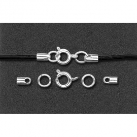 CLASPS FOR LACES 2MM - SILVER