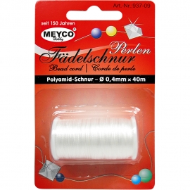 BEAD CORD 0.4MM X 40MTR - WHITE