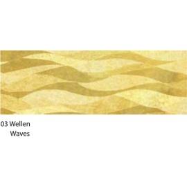 23X33CM GOLD WAVES CARDBOARD 120G