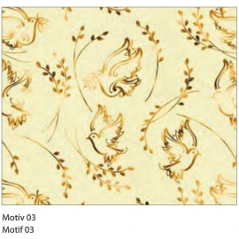 A4 GOLD DESIGNED CARDBOARD 200G - MOTIF 03