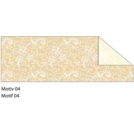 A4 CREAM & GOLD STARLIGHT WEDDING CARDBOARD 240G - MOTIF 04