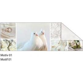 A4 WHITE & SILVER STARLIGHT WEDDING CARDBOARD 240G - MOTIF 01
