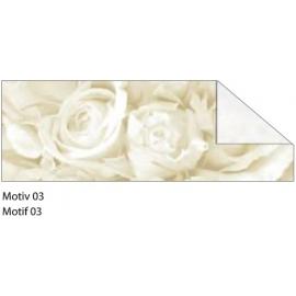 A4 WHITE & SILVER STARLIGHT WEDDING CARDBOARD 240G - MOTIF 03