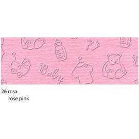 23X32CM ELEGANCE BABY CARDBOARD 220G - ROSE PINK