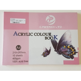 A4 ACRYLIC BOOK 400GSM, 10 SHEETS