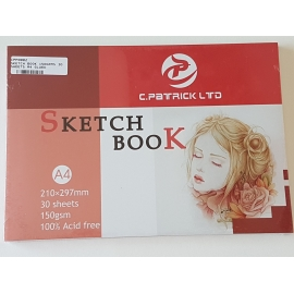 A4 SKETCH BOOK 150GRMS, 30 SHEETS
