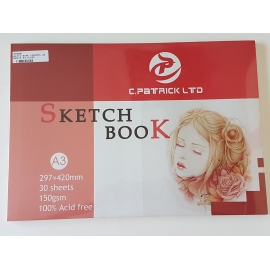 A3 SKETCH BOOK 150GRMS, 30 SHEETS