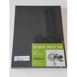 A4 HARDBACK LEATHER COVER SKETCH PAD 98GRMS, 80 SHEETS