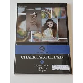 A4 CHALK PASTEL PAD 180GRMS, 24 SHEETS