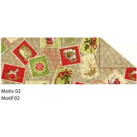 A4 VINTAGE CHRISTMAS CARDBOARD 300G - MOTIF 02