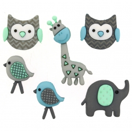 Dress It Up Buttons - Jungle Baby