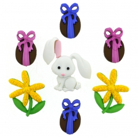 Dress It Up Buttons - Bunny Hop