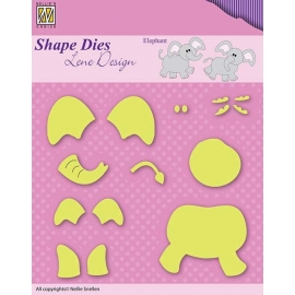 NELLIE'S - SHAPE DIES LENE DESIGN - ELEPHANT