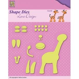 NELLIE'S - SHAPE DIES LENE DESIGN - GIRAFFE