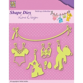 NELLIE'S - SHAPE DIES LENE DESIGN - CLOTHESLINE